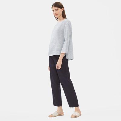 Yarn-Dyed Organic Handkerchief Linen Box-Top