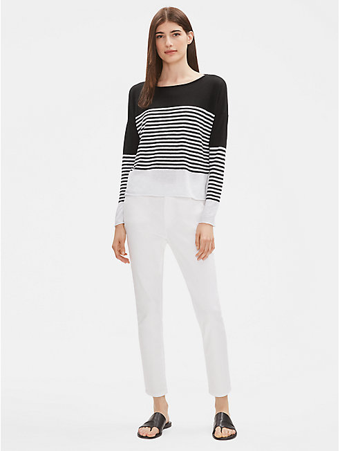 Organic Linen Cotton Striped Sweater