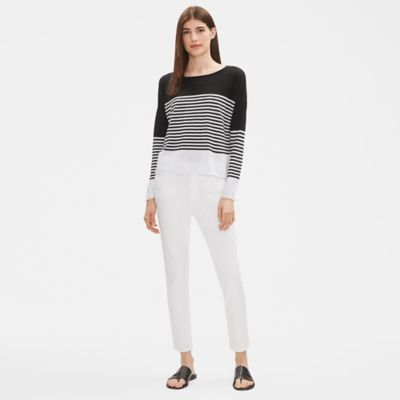 Organic Linen Cotton Striped Sweater