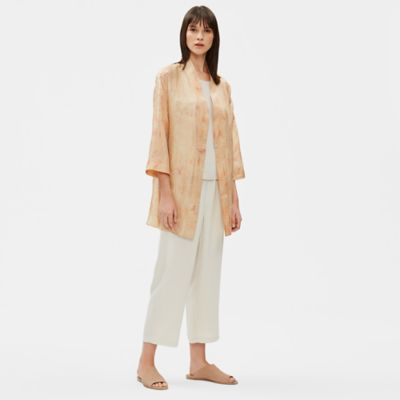 Natural-Dyed Silk Jacket