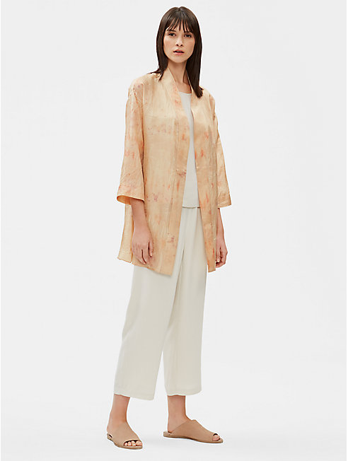 Natural-Dyed Silk Jacket