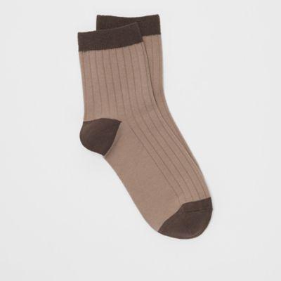 Organic Cotton Ribbed Quarter Crew Sock