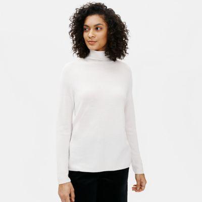 Ultrafine Merino Scrunch Neck Top in Responsible Wool