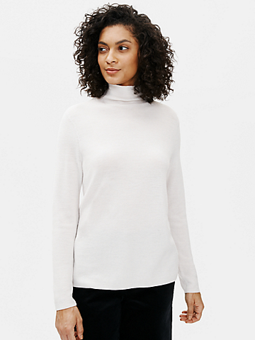 Ultrafine Merino Scrunch Neck Top in Responsible Wool
