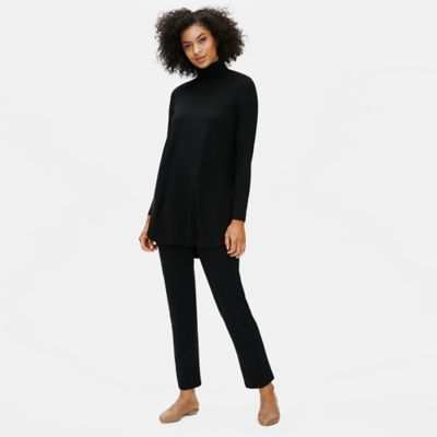 Fine Jersey Turtleneck Tunic