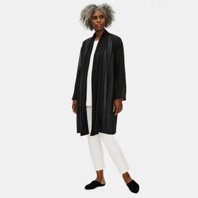 Sheer Silk Georgette High Collar Jacket
