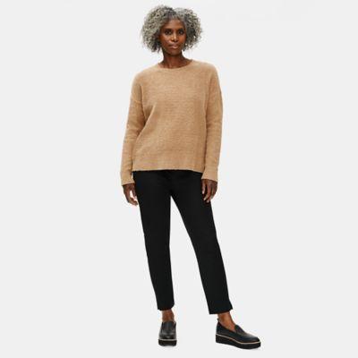 Organic Cotton Twill Slim Ankle Pant