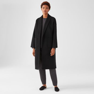 Doubleface Wool Cashmere Shawl Collar Coat