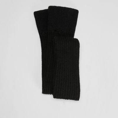 Cozy Recycled Nylon Cashmere Ribbed Leg Warmers