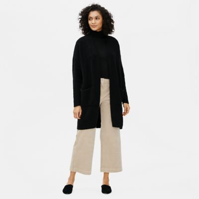 Organic Cotton Boucle Long Cardigan