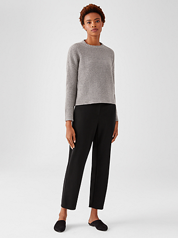 Flex Ponte Slouchy Ankle Pant