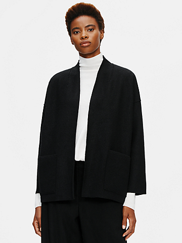 Lightweight Boiled Wool Jacket in Responsible Wool