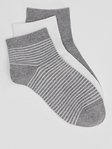 Organic Cotton Ankle Sock 3-Pack