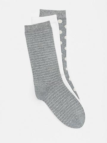 Organic Cotton Printed Sock 3-Pack