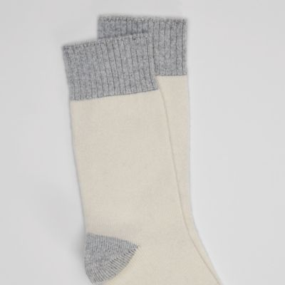 Cozy Recycled Nylon Cashmere Color-Blocked Sock