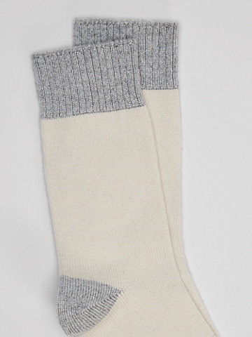 Recycled Nylon Blend Color-Blocked Sock
