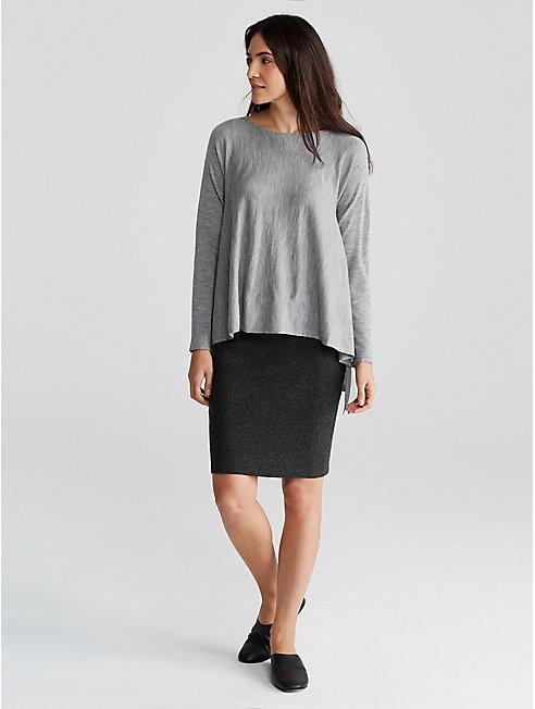 Tencel Merino Interlock Pencil Skirt