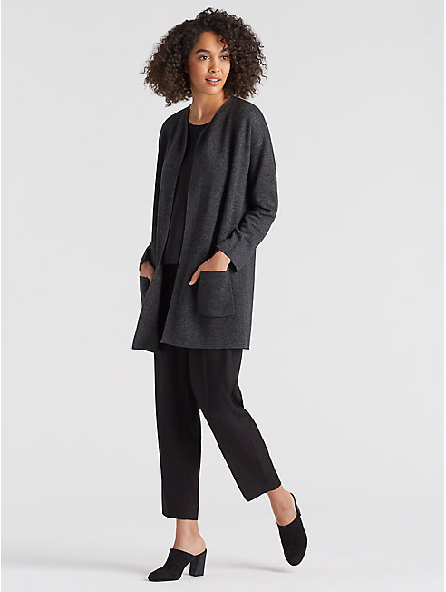 Tencel Merino Blur Long Cardigan