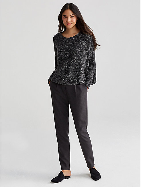 Heathered Flannel Slouchy Pant