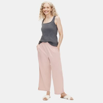 Cozy Organic Cotton Interlock Wide-Leg Pant