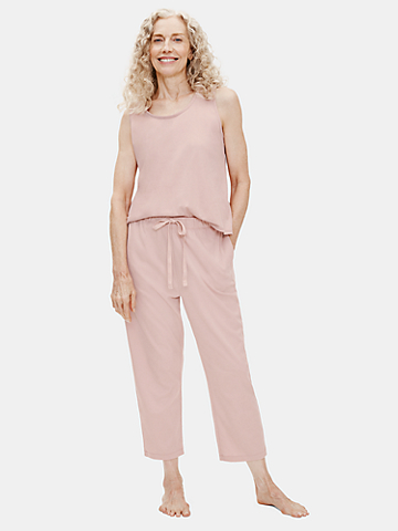 Cozy Organic Cotton Interlock Slouchy Pant