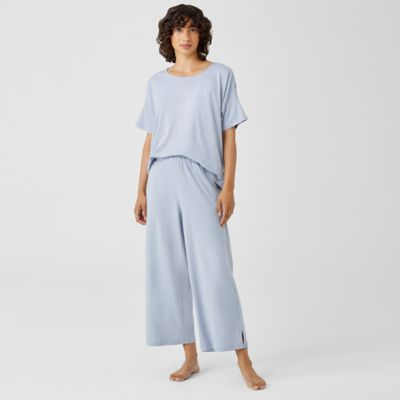 Cozy Organic Cotton Interlock Wide-Leg Pant