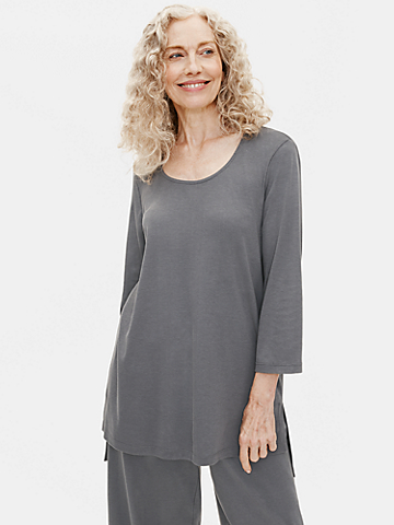 Cozy Organic Cotton Interlock Tunic