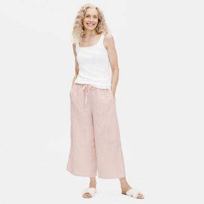 Organic Cotton Doubleweave Wide-Leg Pant