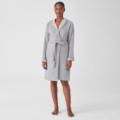 Organic Cotton Gauze Hooded Robe