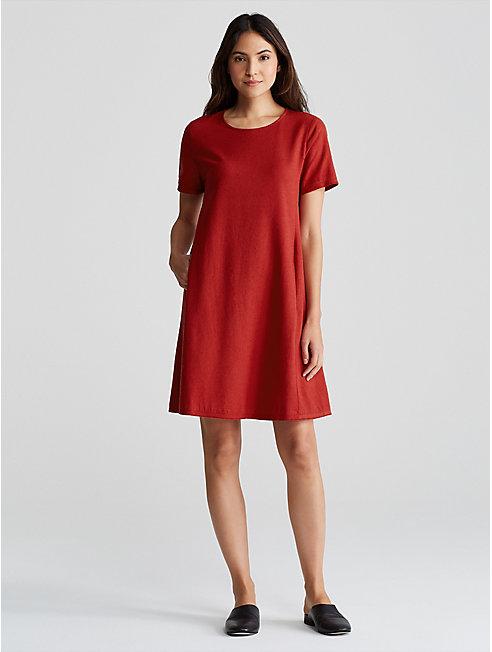 Silk Noil A-Line Dress