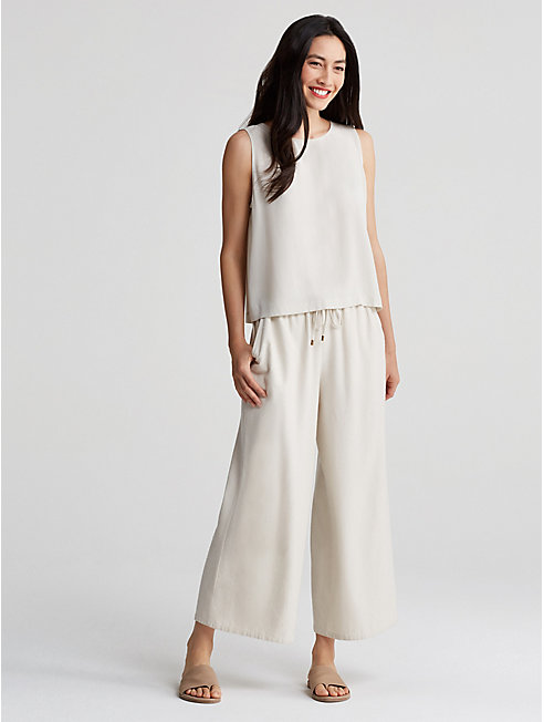 Bluesign® Certified Silk Noil Wide-Leg Pant