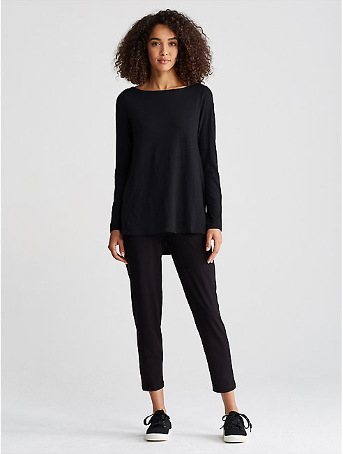 Organic Cotton Jersey Slub A-Line Top