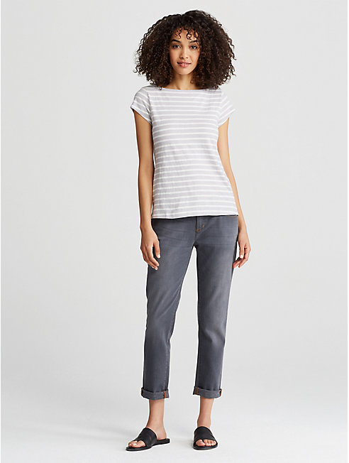 Organic Cotton Jersey Stripe Top