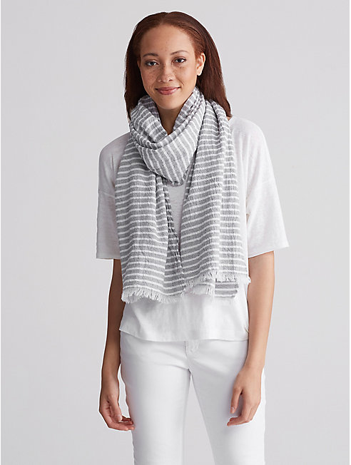 Organic Cotton Stripe Scarf
