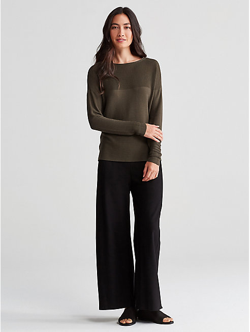 Sleek Tencel Rib Box-Top