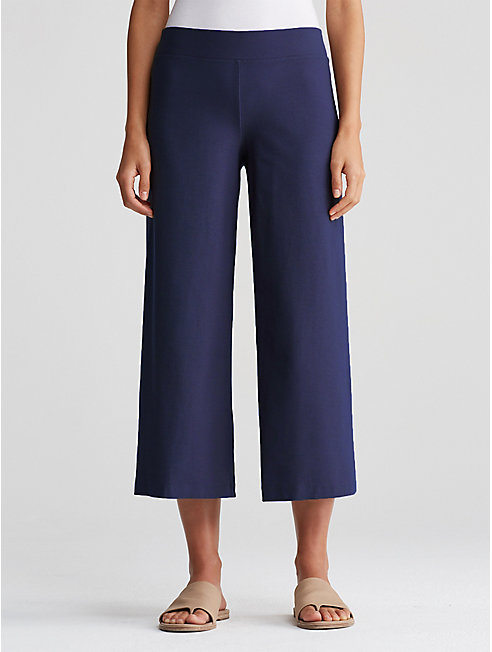 Washable Stretch Crepe Cropped Pant