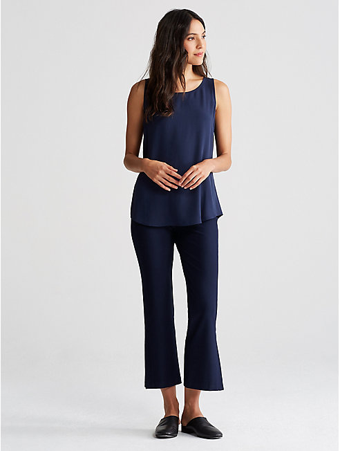 Washable Stretch Crepe Ankle Flare Pant
