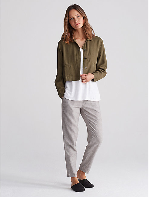 Tencel Linen Cropped Jacket