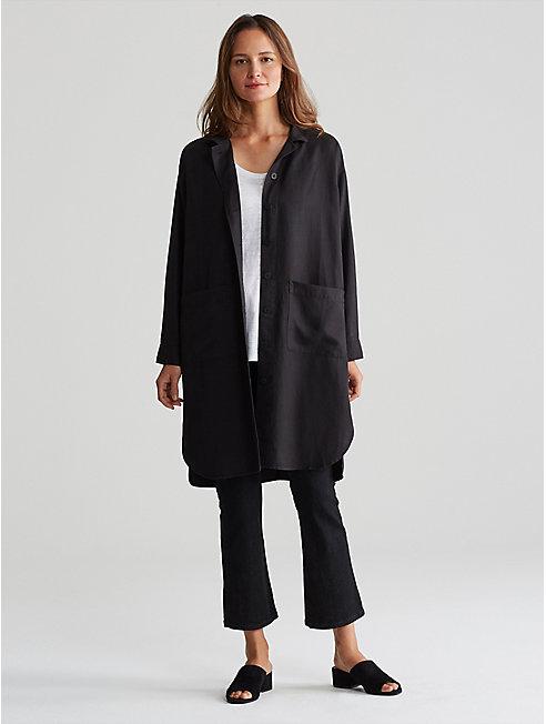 Tencel Linen Long Shirt Jacket