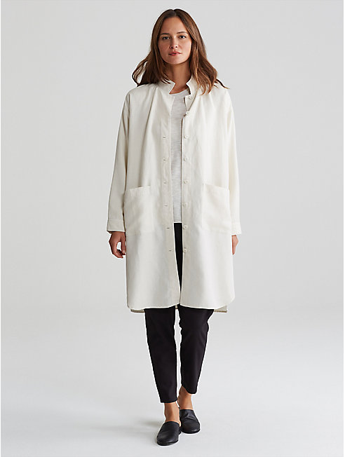 Tencel Linen Long Shirt Jacket