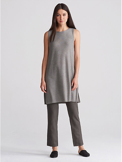 Tencel Linen Straight Ankle Pant