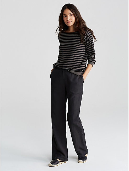 Tencel Linen Straight Pant