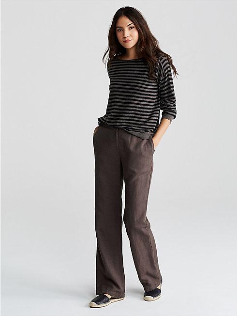 Tencel Linen Straight Pant