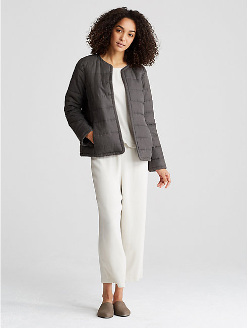 Quilted Tencel Linen Jacket