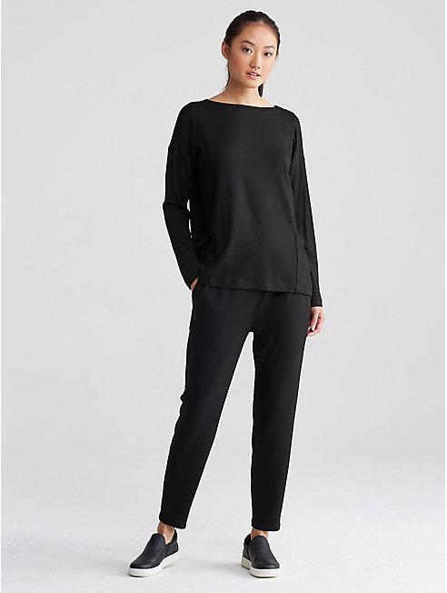 Tencel Terry Slouchy Ankle Pant