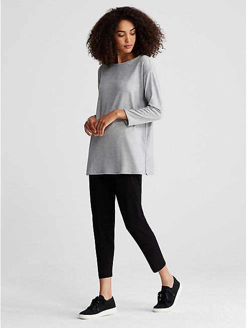Tencel Stretch Terry Bateau Neck Tunic