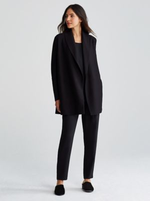 Eileen Fisher Structured Shawl-Lapel Blazer