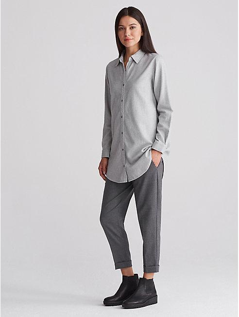 Organic Cotton Flannel Collar Shirt