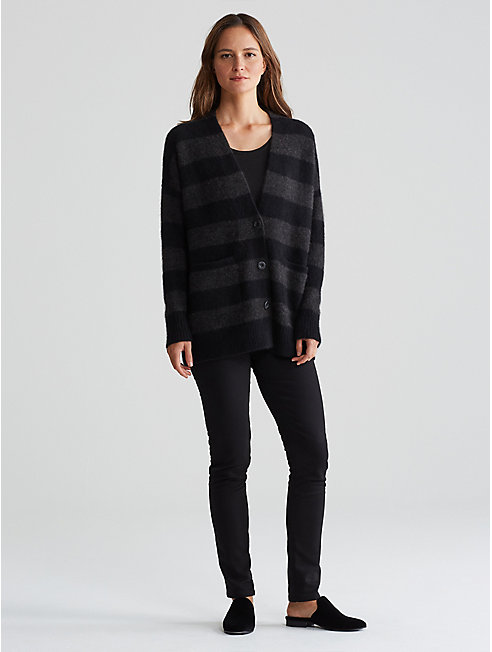 Cashmere Silk Bliss Stripe Cardigan