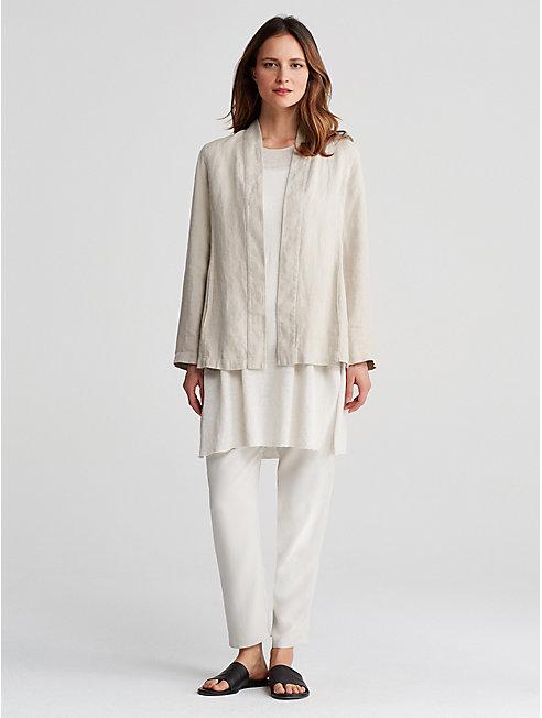 Undyed Organic Linen Kimono Jacket